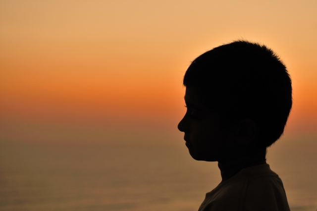 Silhouette of boy